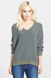 Wildfox Couture V Neck Pullover Pine