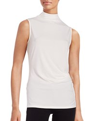 T Tahari Mockneck Tank Antique