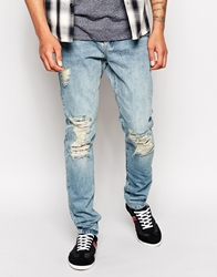 Zee Gee Why Jeans Rattle My Bones Slim Fit Vintage Distressed Patchedup