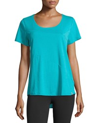 Marc New York Marc Ny Performance Short Sleeve High Low Top Big Wave