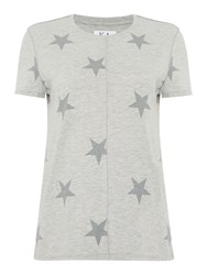 Zoe Karssen Short Sleeve Star Print T Shirt Grey