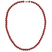 A B Davis Freshwater Pearl Necklace Cranberry