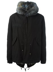 Mr And Mrs Italy Fur Lined Hooded Parka Blue