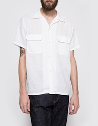 Beams Plus B Open Linen Ss Shirt White