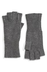 Halogenr Women's Halogen Cashmere Fingerless Gloves Grey Dark Heather