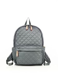 M Z Wallace Oxford Small Metro Quilted Nylon Backpack Army Oxford