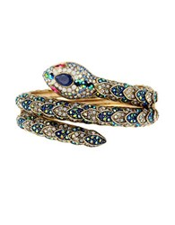 Betsey Johnson Snake Wrap Cuff Bracelet Gold
