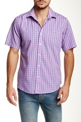 Toscano Short Sleeve Multi Checkered Shirt Pink