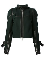 Sacai Buckle Collar Jacket Green