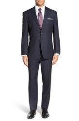 Andrew Marc New York Men's Big And Tall Andrew Marc 'Claude' Classic Fit Solid Wool Suit Navy
