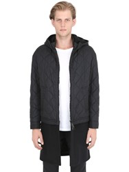 Neil Barrett Quilted Nylon Jacket With Wool Hem