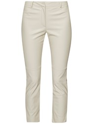 French Connection Atlantic Pu Cropped Trousers African Stone