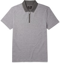 Hugo Boss Bo Polton Cotton Pique Polo Hirt Gray
