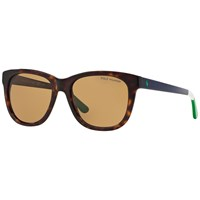 Polo Ralph Lauren Ph4105 Polarised Square Sunglasses Tortoise