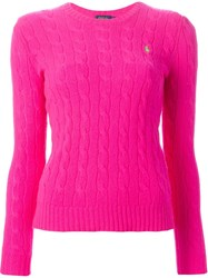 Polo Ralph Lauren 'Julianna' Sweater Pink And Purple