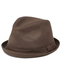 Levi's Men's Waxed Canvas Fedora Brown