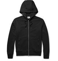 Acne Studios Johna Zip Up Loopback Cotton Jersey Hoodie Black