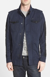Diesel 'Niraw' Twill Military Jacket Navy