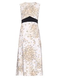 Giambattista Valli Daisy Print Crepe Dress White Multi