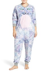 Cozy Zoe Plus Size Women's 'Cat' Fleece One Piece Pajamas