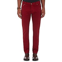 Isaia Men's Slim Fit Jeans Red