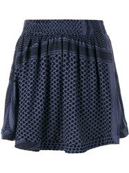 Cecilie Copenhagen Keffiyeh Cotton Skirt Black
