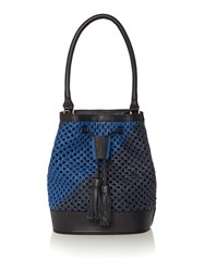 Dickins And Jones Tamara Woven Bucket Bag Blue