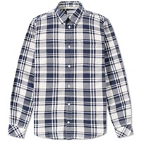 Norse Projects Osvald Check Shirt Blue