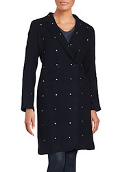 Zadig And Voltaire Manon Wool Blend Double Breasted Peacoat