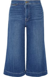 Frame Denim Le Culotte Cropped High Rise Wide Leg Jeans