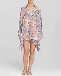 Surf Gypsy Paisley Tunic Swim Cover Up Navy