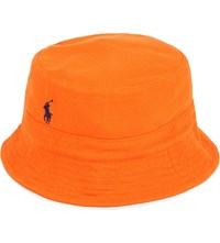 Ralph Lauren Cotton Bucket Hat Orange