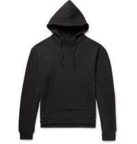 John Elliott Kake Loopback Cotton Jerey Hoodie Black