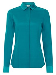 Hobbs Renee Silk Blend Shirt Jewel Blue
