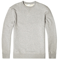 Loopback Sweat Top Grey Melange
