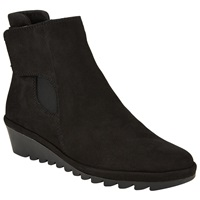 John Lewis Designed For Comfort Petunia Suede Ankle Boots Black
