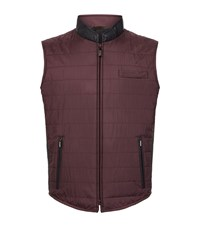 Zilli Silk Quilted Snake Trim Gilet Male Wine