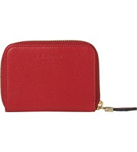 Lk Bennett Kendra Saffiano Leather Purse Red Roca Red