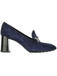 Tod's 'Double T' Buckle Pumps Blue