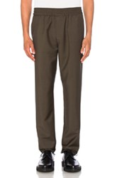 Acne Studios Ryder Cropped Trousers In Green