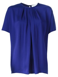 Gianluca Capannolo Pleated Front Blouse Blue
