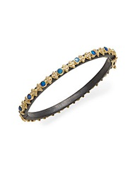 Armenta Old World Midnight Opal Diamond 18K Yellow Gold And Oxidized Sterling Silver Cravelli Bangle Bracelet Gold Silver