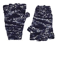 The Elder Statesman Women's Melange Cashmere Fingerless Gloves Blue