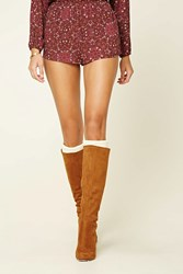Forever 21 Cable Knit Knee High Socks