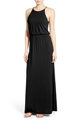 Women's Lush High Neck Maxi Dress Black