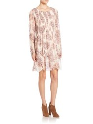See By Chloe Paisley Printed Long Sleeve Dress Winter White