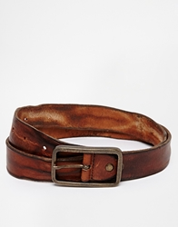 Selected Pete Leather Belt Brown