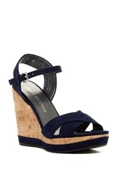 Stuart Weitzman Minky Platform Wedge Sandal Wide Width Available Blue