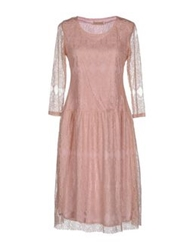 Lou Lou London Knee Length Dresses Pink