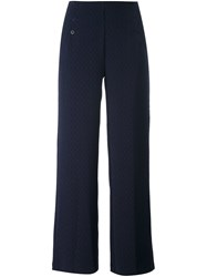 Acote Straight Textured Trousers Blue